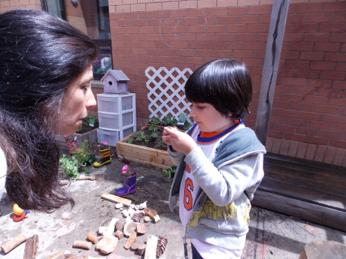 """You have to crush and smell"" says this little boy as he tells Tara and anyone who will listen about his exciting discovery. Finding rosemary in the garden, he quickly lets everyone know that the secret to smelling the ""lemony"" scent is to ""crush it and smell it""! Of course!"