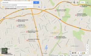 Google Map Screen Shot