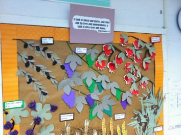 The seven species from Jewish tradition is a curricula piece woven throughout the school
