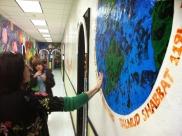 Beautiful murals adorn the hallways